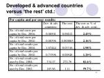developed advanced countries versus the rest ctd1