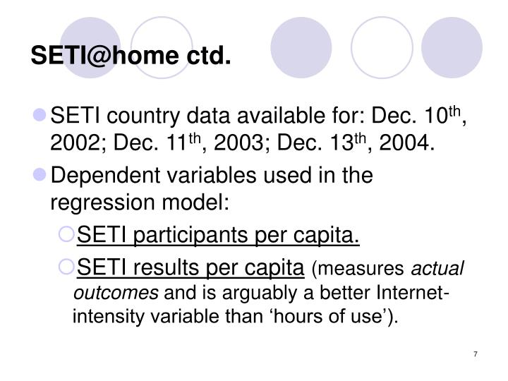 SETI@home ctd.