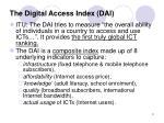 the digital access index dai