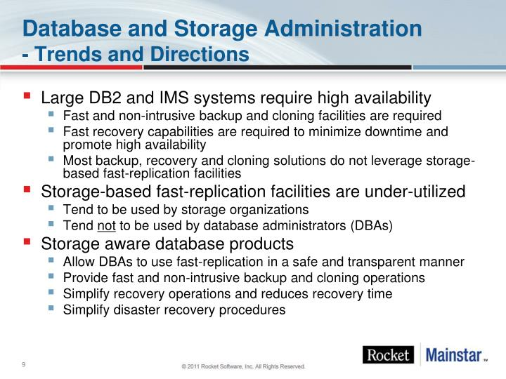 Database and Storage Administration