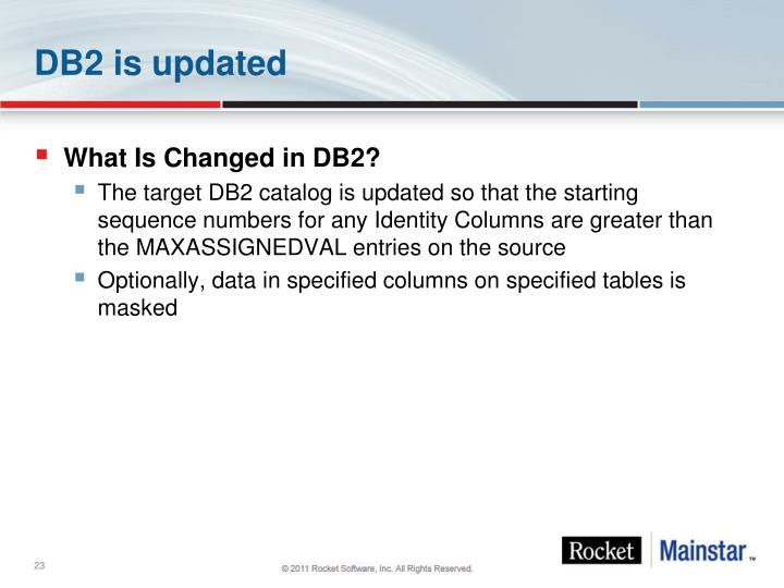DB2 is updated
