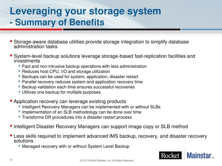 Leveraging your storage system
