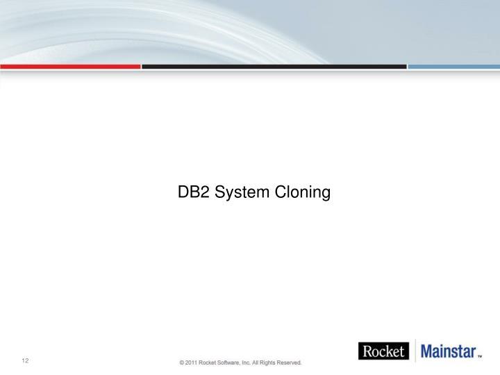 DB2 System Cloning
