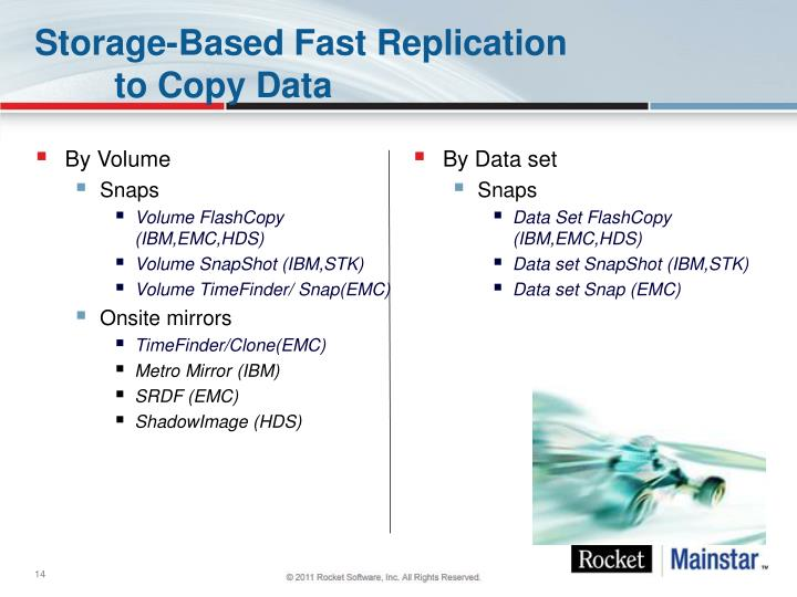 Storage-Based Fast Replication