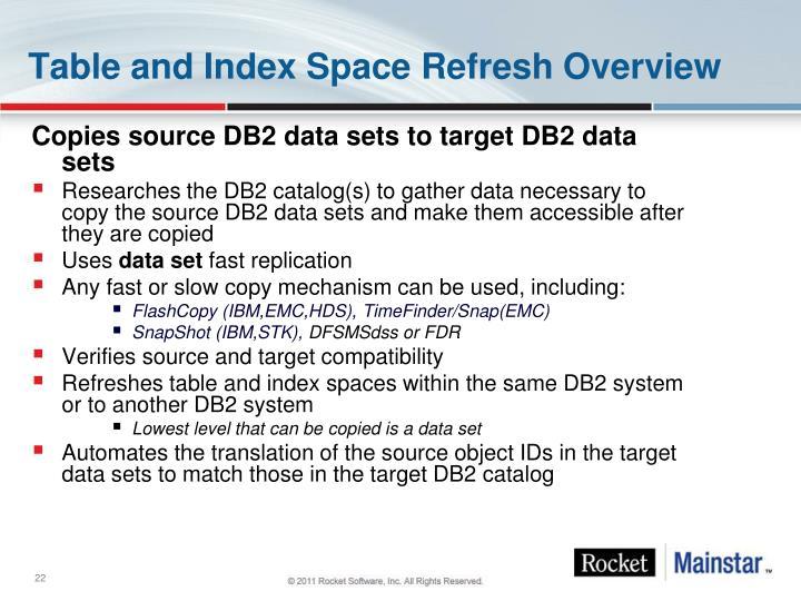 Copies source DB2 data sets to target DB2 data sets