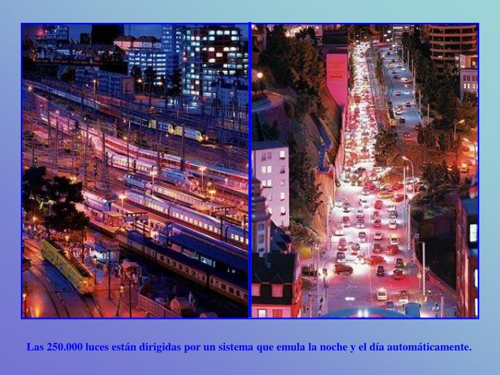 Las 250.000 luces están dirigidas por un sistema que emula la noche y el día automáticamente.