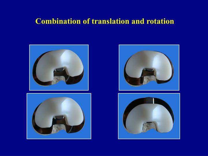 Combination of translation and rotation