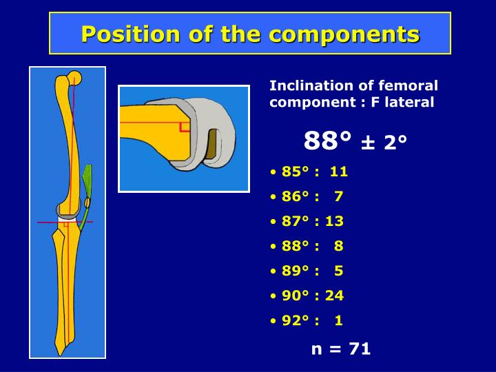 Position of the components