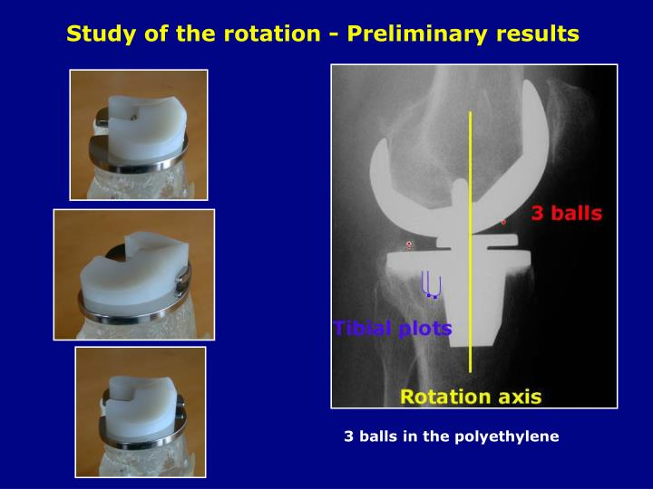 Study of the rotation - Preliminary results