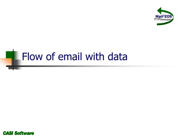 Flow of email with data