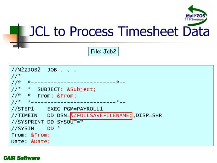 JCL to Process Timesheet Data
