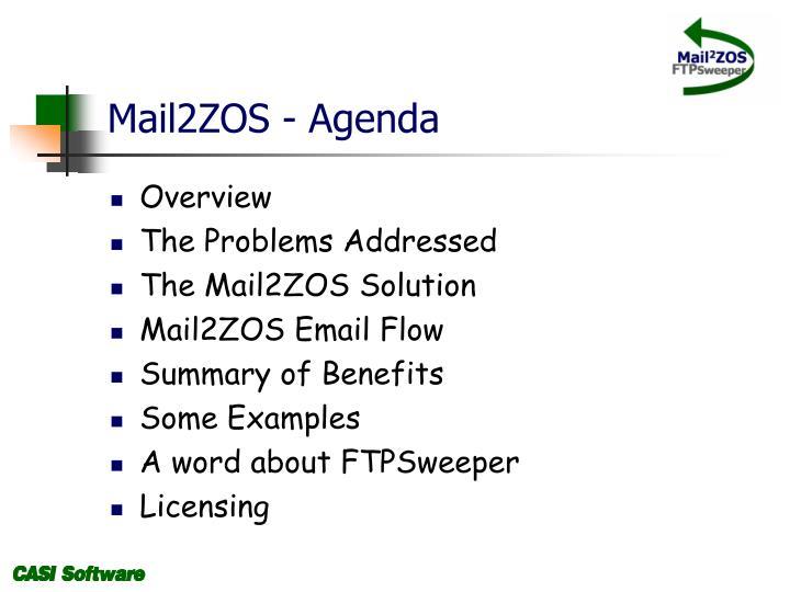 Mail2ZOS - Agenda