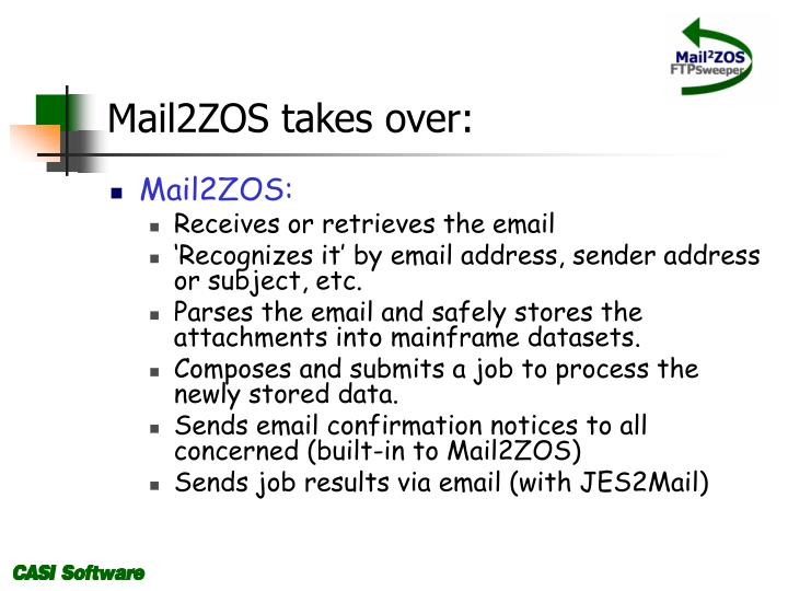 Mail2ZOS takes over: