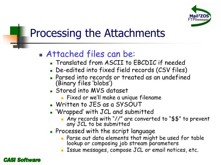 Processing the Attachments