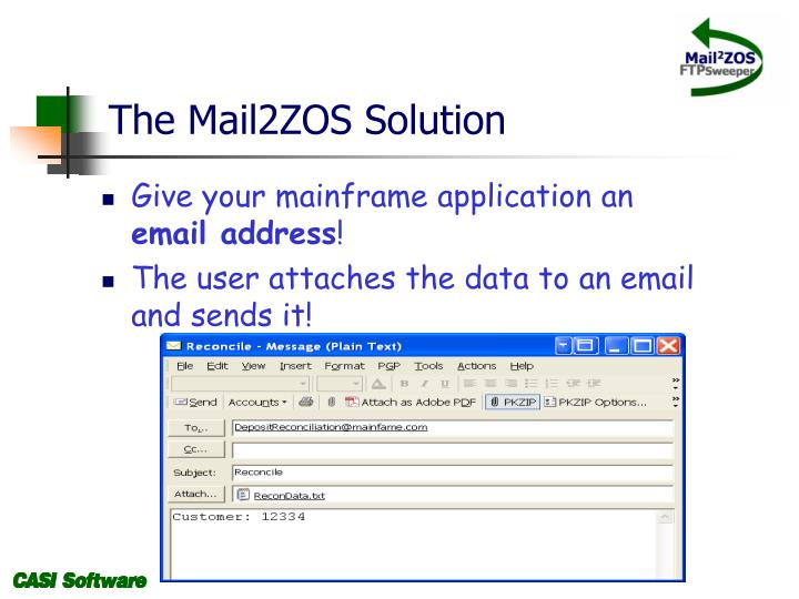 The Mail2ZOS Solution