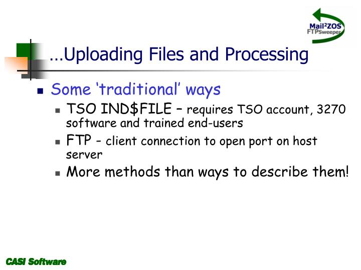 …Uploading Files and Processing