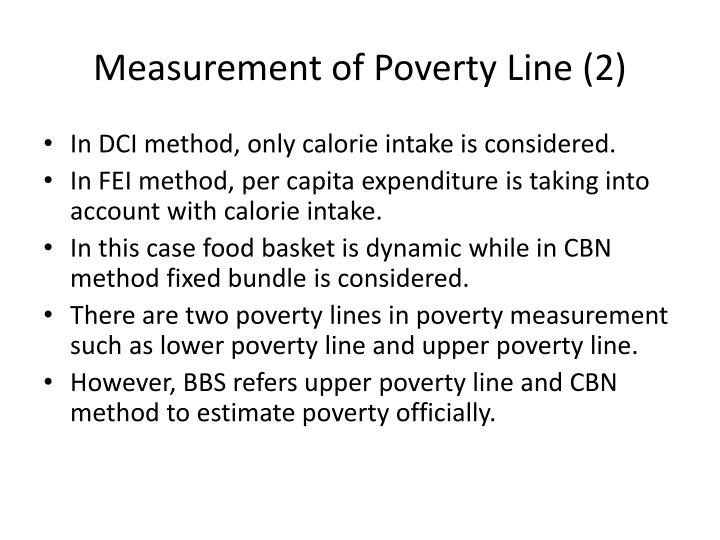 Measurement of Poverty Line (2)