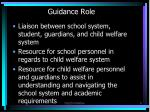 guidance role