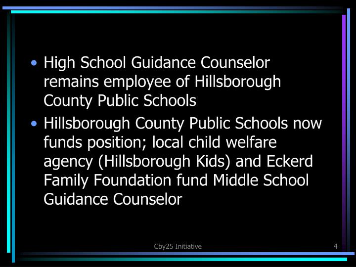 High School Guidance Counselor remains employee of Hillsborough County Public Schools