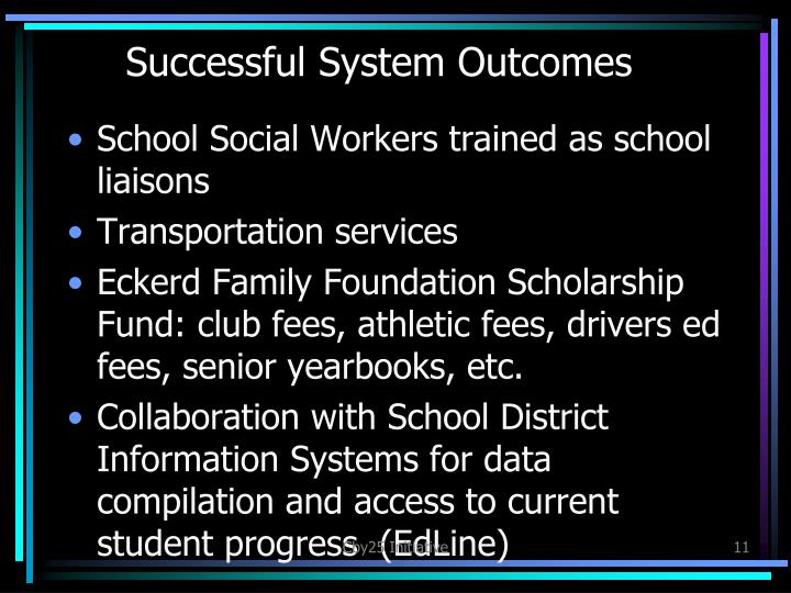 Successful System Outcomes