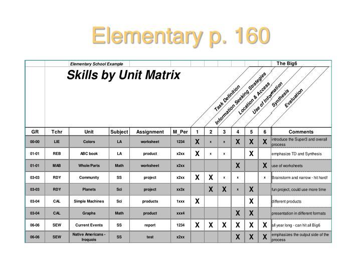 Elementary p. 160