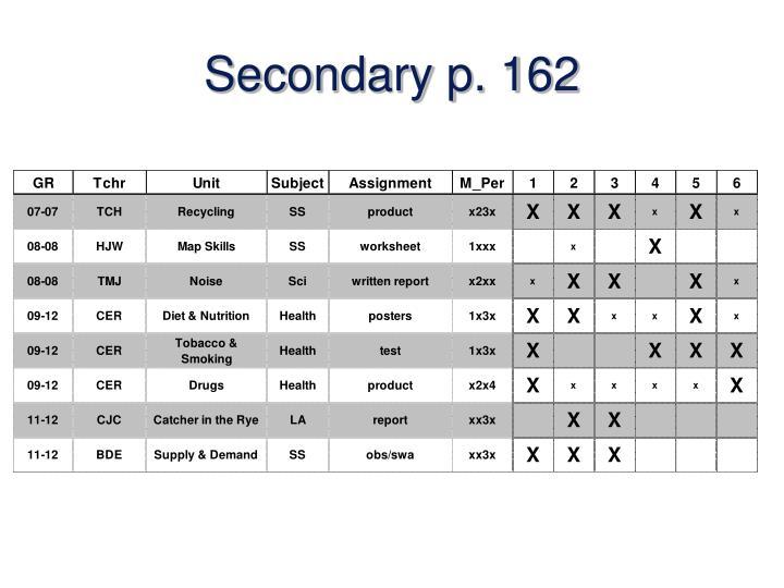 Secondary p. 162