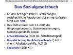das sozialgesetzbuch