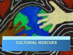 cultural miscues