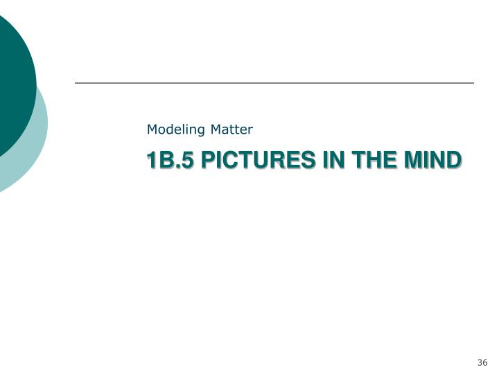 1B.5 PICTURES IN THE MIND