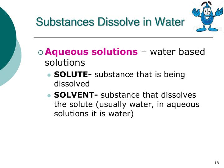 Substances Dissolve in Water