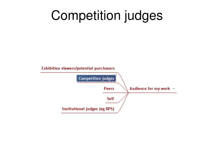 Competition judges