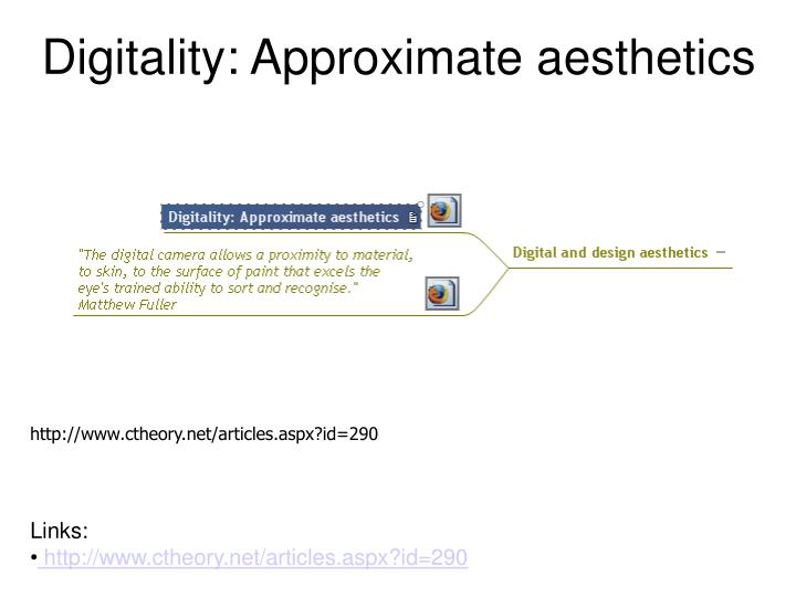 Digitality: Approximate aesthetics