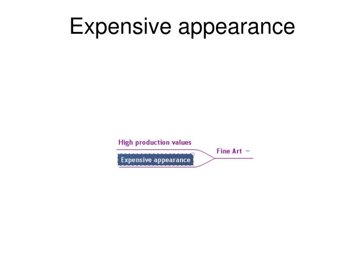 Expensive appearance