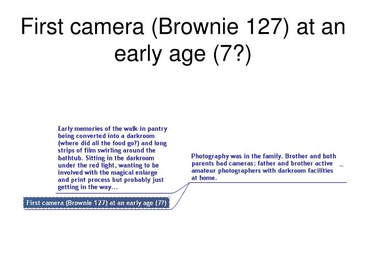 First camera (Brownie 127) at an early age (7?)