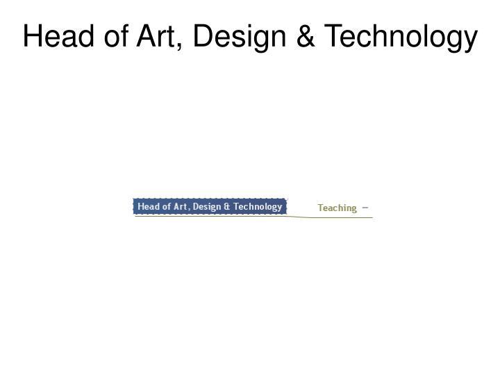 Head of Art, Design & Technology