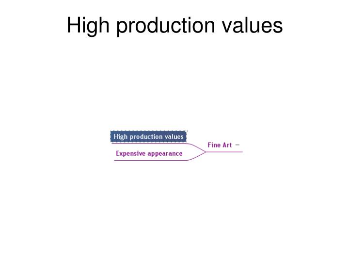High production values