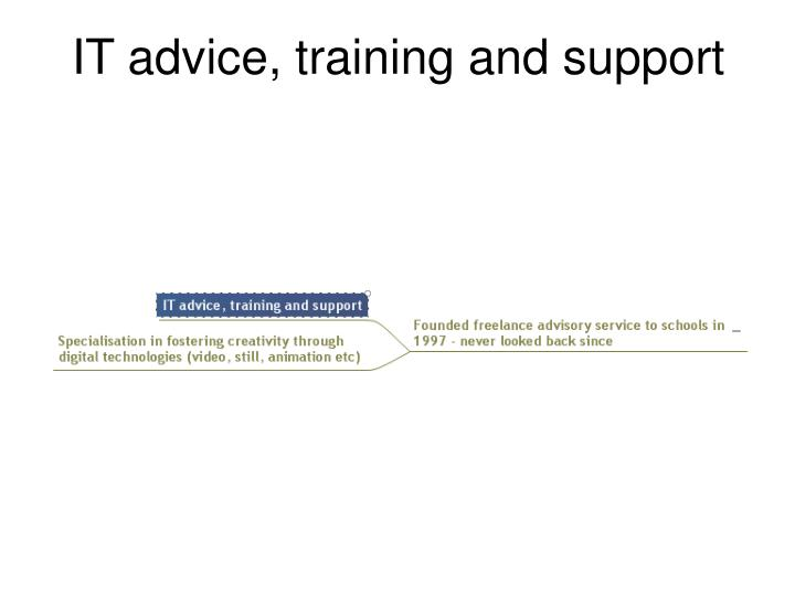 IT advice, training and support