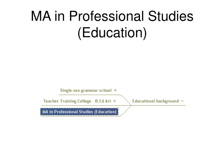 MA in Professional Studies (Education)
