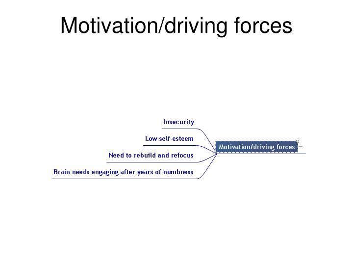 Motivation/driving forces