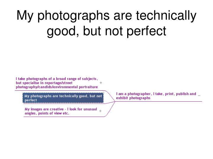 My photographs are technically good, but not perfect