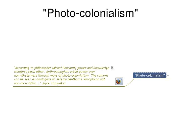 """""""Photo-colonialism"""""""