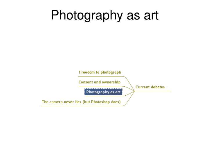 Photography as art
