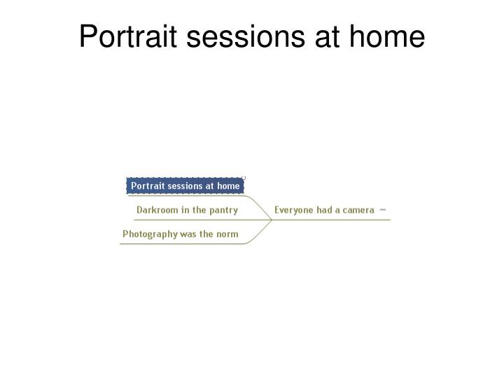 Portrait sessions at home