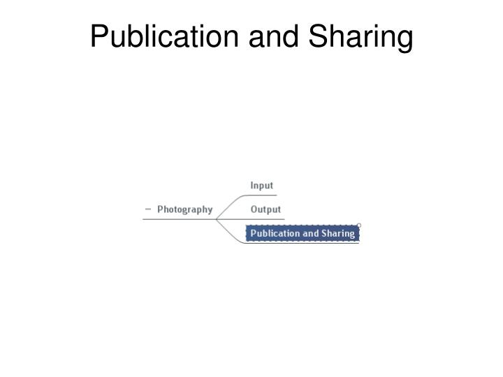 Publication and Sharing