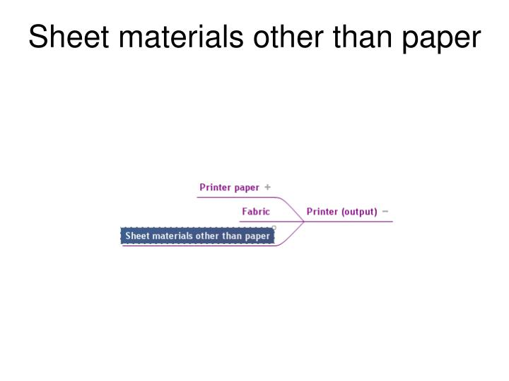 Sheet materials other than paper