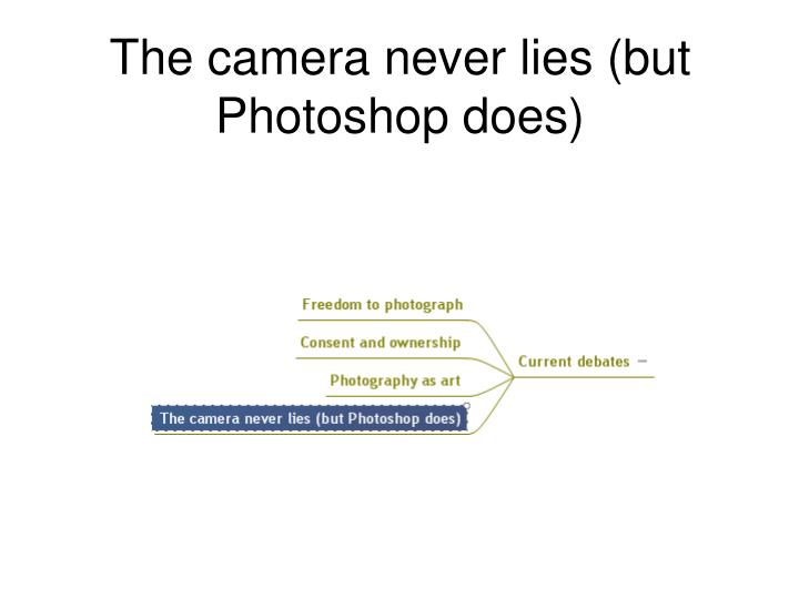 The camera never lies (but Photoshop does)