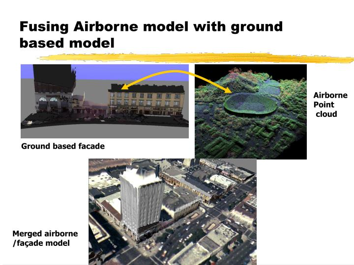 Fusing Airborne model with ground based model
