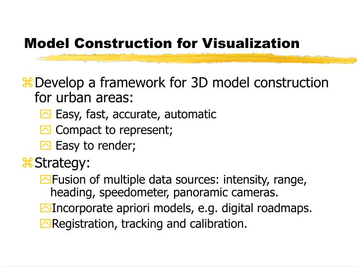 Model Construction for Visualization