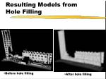 resulting models from hole filling