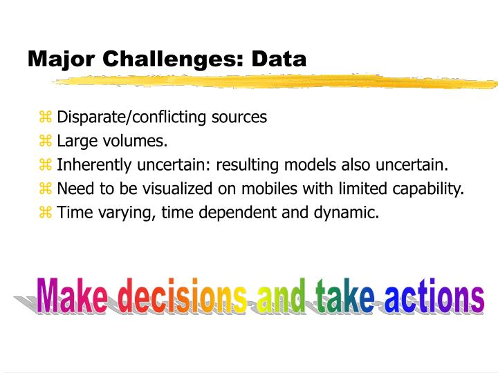 Major Challenges: Data